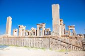 stock photo of xerxes  - Xerxes palace in Persepolis - JPG