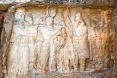 Naqsh-e Rajab, two rock reliefs near Persepolis, part of the Marvdasht cultural complex. Iran