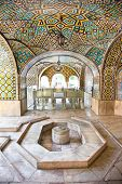 Howz Khaneh,Mosaic wall and marble fountain of Golestan palace, Tehran, Iran