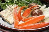 Krabbe Nabemono, japanische Dampfschiff Gericht