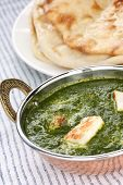 stock photo of indian food  - palak paneer  - JPG