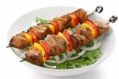 shish kebab no espeto