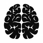 Brain Neurons Icon. Simple Illustration Of Brain Neurons Icon For Web Design Isolated On White Backg poster