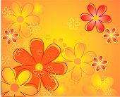 Fondo de flores de color
