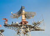 Radar and communication system on military ship