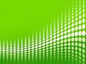 Green halftone background.