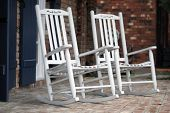 White Rocking Chairs
