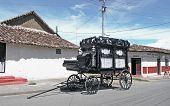 picture of hearse  - old black hearse - JPG