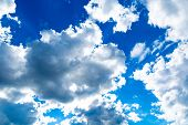 Beautiful Blue Sky With Clouds Background.sky Clouds.sky With Clouds Weather Nature Cloud Blue poster