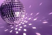 purple  disco ball close-up