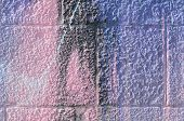Fragment Of Graffiti Drawings. The Old Wall Decorated With Paint Stains In The Style Of Street Art C poster