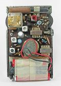 image of ferrite  - back of old am radio - JPG