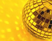 mirror ball   in gold