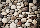 picture of wall-stone  - pebble stone wall - JPG