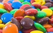colorful candy close up