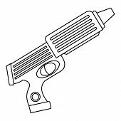 Water Gun Toy Icon. Outline Illustration Of Water Gun Toy Icon For Web poster