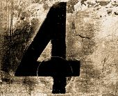 number four abstract     in toned monochrome