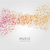 Music Background With Music Notes And G-clef Vector Illustration Design. Artistic Music Festival Pos poster
