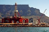 Oil- Rig Repairs In The Ocean Harbour