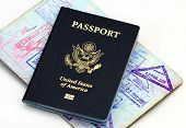 stock photo of citizenship  - passports and visas - JPG
