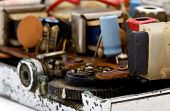 picture of ferrite  - close up of old radio - JPG
