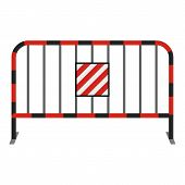 Steel Barrier Icon. Cartoon Illustration Of Steel Barrier Icon For Web poster