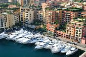 Boats and yachts from Monaco harbor