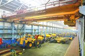 Assembly line: giant size industrial truck
