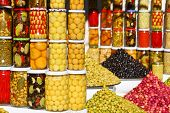 foto of pickled vegetables  - Vegetable market in Morocco - JPG