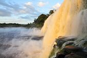 foto of canaima  - Waterfall at Canaima National Park - JPG