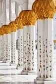 Detalles y decoración de la mezquita Sheikh Zayed, Abu Dhabi, Emiratos Árabes Unidos