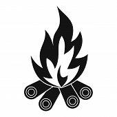 Bonfire Icon. Simple Illustration Of Bonfire Icon For Web poster