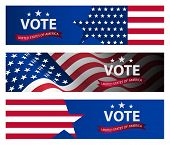 Presidential Election Banner Background. Us Presidential Election 2020. Us Midterm Elections 2018: T poster