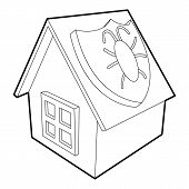 Disinfection House Icon. Outline Illustration Of Disinfection House Icon For Web poster