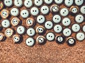 Buttons, Lots Of Buttons. Buttons For Sewing And Craft. poster