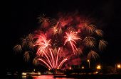 Fireworks On A Lake Water, Amazing Fireworks, Fireworks 2018, Fireworks Background, Fireworks Event, poster