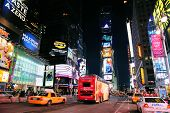 NEW YORK CITY, NY - JAN 30:Times Square symbolizes the prosperity and modern commercial atmosphere o