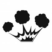 Explosion Icon. Simple Illustration Of Explosion Icon For Web poster