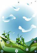 Green Grasshoppers