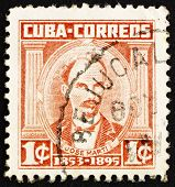 Postage stamp Cuba 1961 Jose Marti, Revolutionary