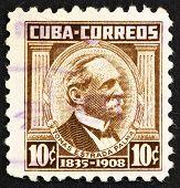 Selo postal Cuba 1954 Tomás Estrada Palma, Presidente