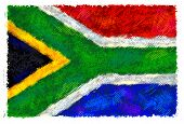 pic of isosceles  - Drawing of the flag of South Africa - JPG