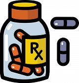 Illustration Of Prescription Drugs