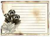 stock photo of condolence  - Blank Post Card For Condolence Old Paper - JPG