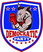 Democrata Donkey mascote Shield