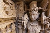 Statues at the Rani Ki Vav Step Well