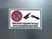 Kein Parkplatz-Zeichen