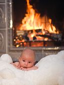 Baby With Fireplace