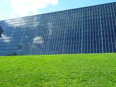 Building, Sky And Grass