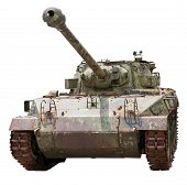 Isolated old tank M18 Hellcat